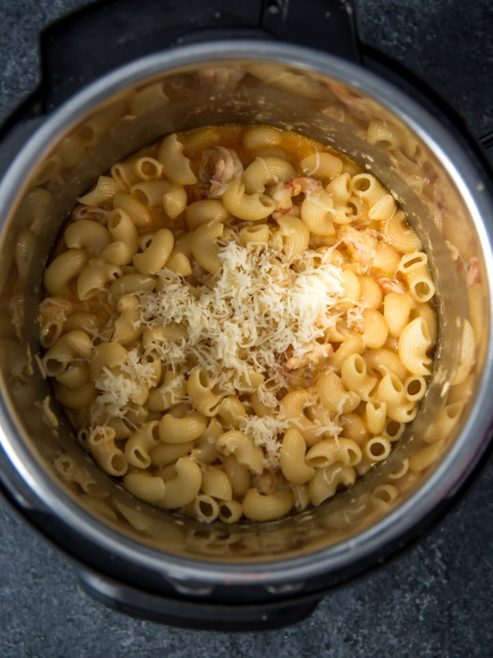 Mac and cheese cooked in an Instant Pot