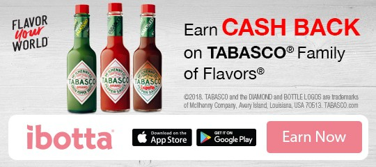 A coupon for TABASCO sauce
