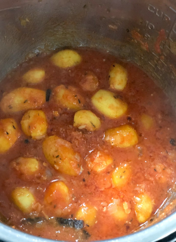 Cooked Dum Aloo