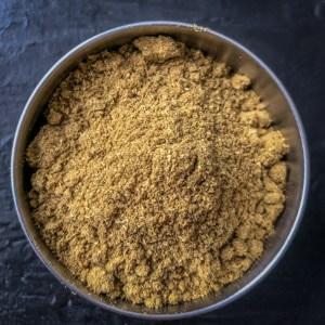 An overhead shot of Coriander Powder