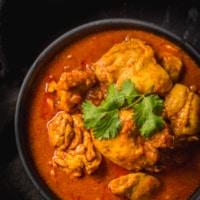 An overhead shot of Instant Pot Chicken Vindaloo