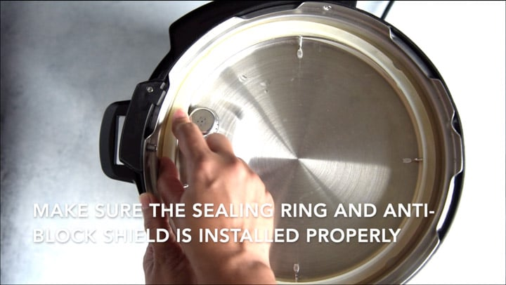 Checking Instant Pot sealing ring is properly installed