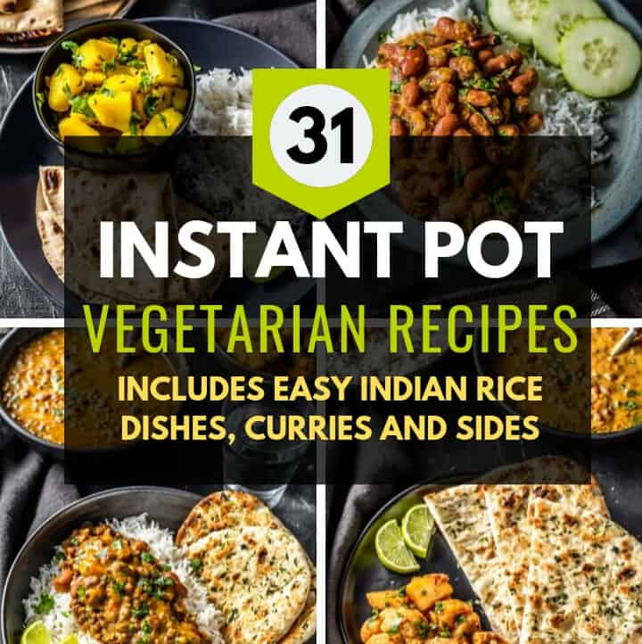 A collage of images which has a caption that reads 31 Instant Pot Vegetarian Recipes