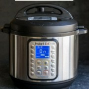 An image of Instant Pot DUO Plus reads New to Instant Pot - Start here with a subtitle beginners guide with recipes