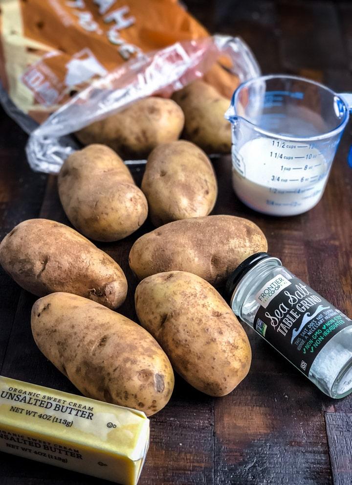 Potatoes, Salt, Milk, Butter