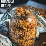 granola in a glass container