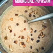 An overhead shot of Instant Pot Moong Dal Payasam