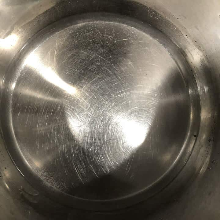 Water in the base of the instant pot pressure cooker.