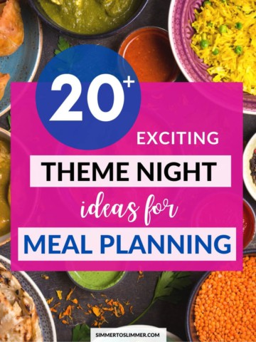An image with caption - 20+ exciting theme night ideas for meal planning