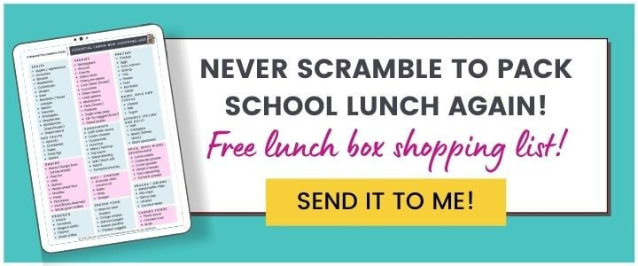 Work Lunch Shopping List