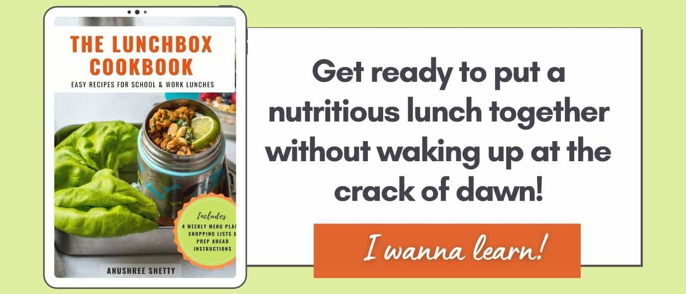 A banner which reads click here to put a nutritious meal together without waking up at the crack of dawn. Click to learn more