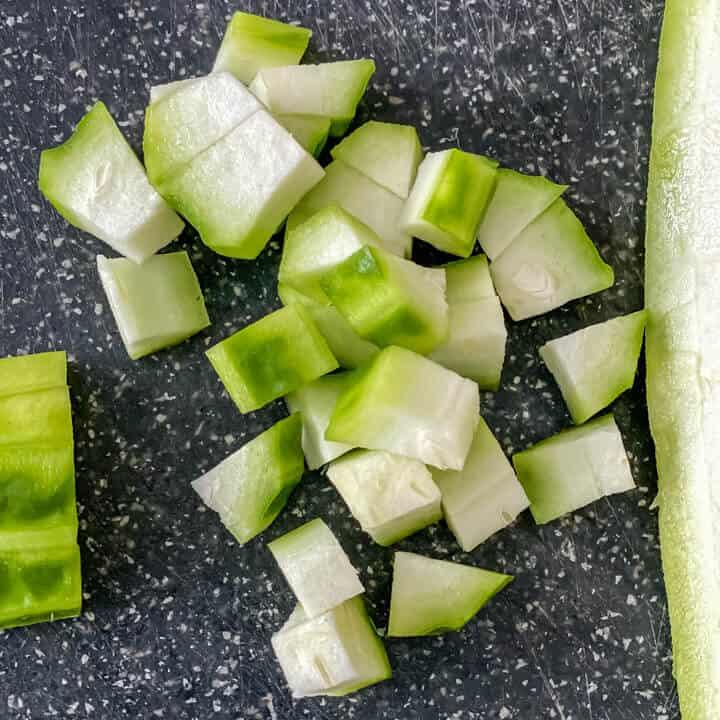 Turiya chopped into ½ inch pieces